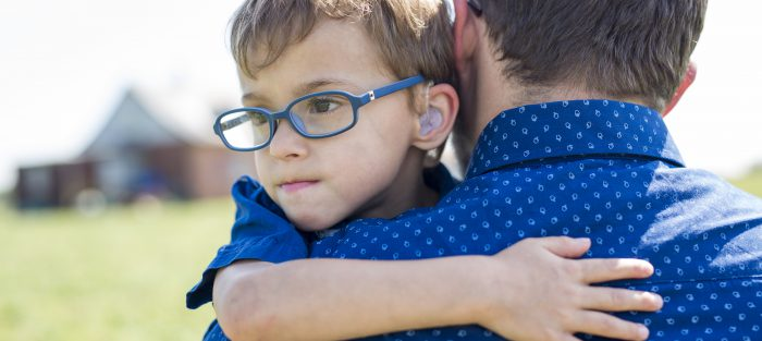Boy with foster carer