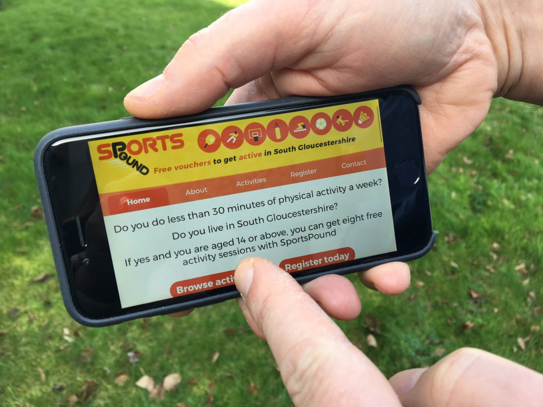 SportsPound microsite on a mobile device