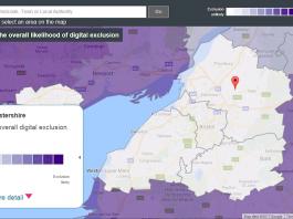 Digital inclusion heatmap tool - courtesy of The Tech Partnership