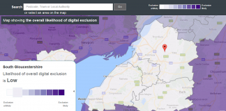 Digital inclusion heatmap tool - courtesy of The Tech Partnership