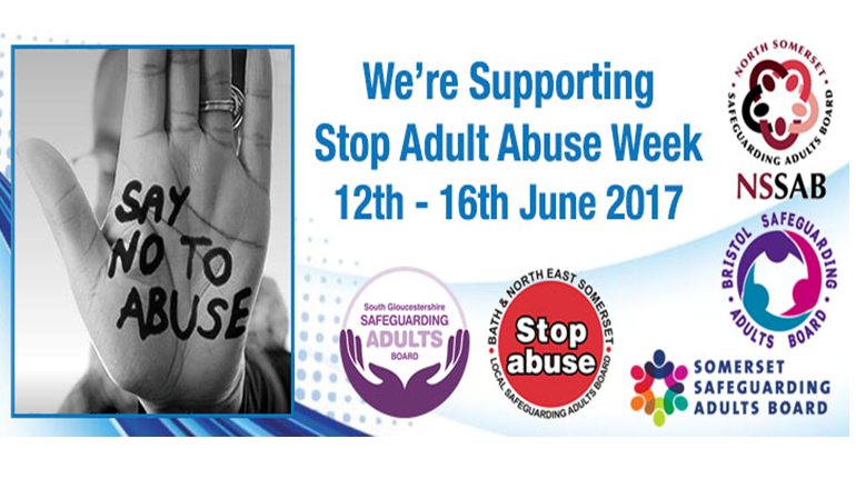 Stop Adult Abuse Week is a local initiative that started in 2014 when a  number of Local Safeguarding Adult Board Communications Groups in the South  West ...