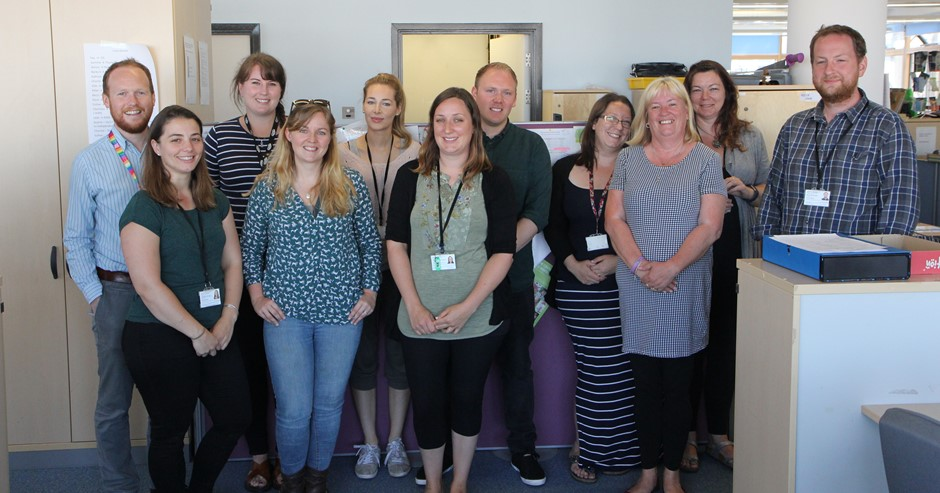 Photo of team of social workers from South Gloucestershire Council