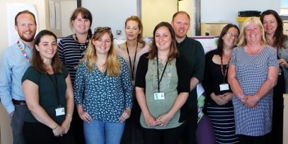 Photo of a team of South Gloucestershire Council social workers
