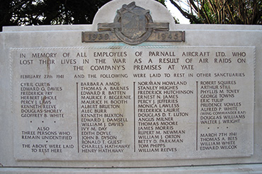 Yate - Parnall Second World War Memorial, St Mary's Church