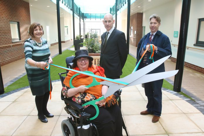 : L-R Councillor Helen Holland, Prospective Resident Pam Fortune, ExtraCare CEO Mick Laverty and Councillor Ben Stokes