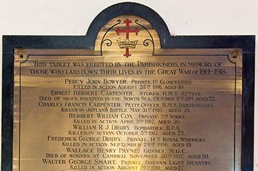 Pucklechurch - Memorial Shields