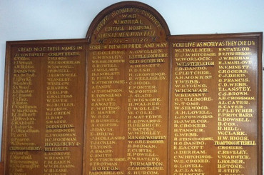 Yate and District Heritage Centre: Chipping Sodbury Cottage Hospital Memorial Board